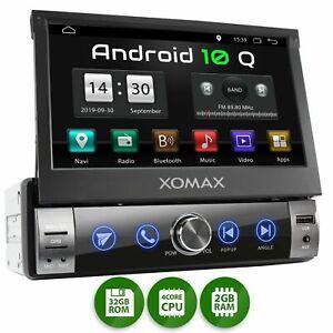 Autoradio mit Android 10 2gb 32gb Navi GPS Bluetooth Wifi 3g 4g Dab Obd2 1DIN