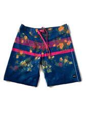 Oakley Swim Trunks 30 Pink Blue Peach Drawstring Floral Stretch Board Shorts