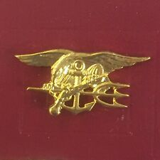 Us Navy Seal - Eagle Anchor Trident Badge - Hat / Lapel Pin -Vintage