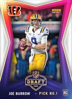 2020 Panini Instant NFL Draft Night LSU JOE BURROW - FIRST BENGALS RC ROOKIE