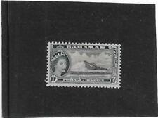 """BAHAMAS 1954 PICTORIAL 10/- """"MODERN SALT PRODUCTION"""" SG.215 MOUNTED MINT  MLH"""