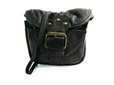 Ladies Womens Small Handbag Crossover Body Shoulder Black Genuine Leather Bag