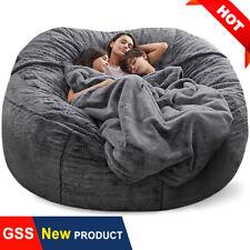 7ft foam Microsuede giant bean bag memory living room chair lazy sofa cover