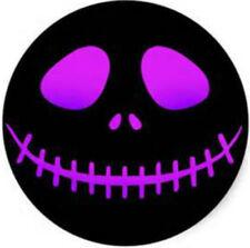 20 water slide DIY manicure decals Jack Skellington w purple eyes trending 3/8