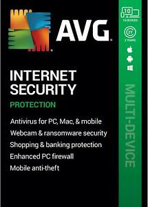 AVG INTERNET SECURITY 2021 - FOR 10 DEVICES - 2 YEARS - DOWNLOAD