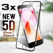3x 5D Hartglas für iPhone 7 iPhone 8 Displayschutzfolie 9H-Panzer Glasfolie