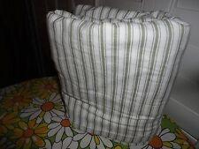 IKEA ALVINE RAND GREEN & WHITE TICKING STRIPES FULL DUVET 82 X 80
