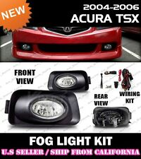 04 05 06 ACURA TSX Fog Light Driving Lamp Kit w/switch wiring (CLEAR)