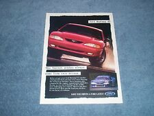 """1995 Ford Mustang GT Vintage Ad """"Fastest Ponies Always Come from Race Horses"""""""