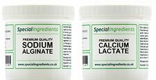 Calcium lactate 50g et alginate de sodium 50g gastronomie moléculaire Spherification
