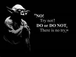 """NO! Try not! DO or DO NOT, There is no try."""" Yoda star wars  MAGNET"""