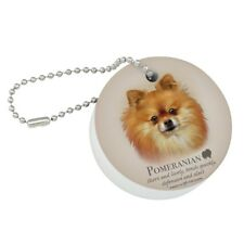 Pomeranian Dog Breed Round Floating Foam Fishing Boat Buoy Key Float Keychain
