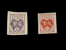 Vintage Stamp,LOT OF 2 REPUBLIC OF LITHUANIA, Definitive,Imperf,Postage Due,Arms