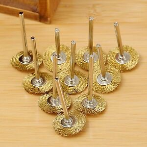 3.17mm Brass Wire Wheel Brushes for Weld Die Power Rotary Drill Rust Grinder
