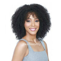 Afro Kinky Curly Full Lace Wig with Bangs Mongolian Human Hair Lace Front Wigs