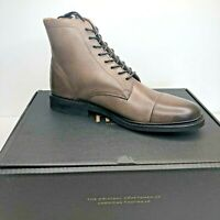 Frye Men's Seth Cap Toe Lace Up Leather Boots in Stone Size 9 $228