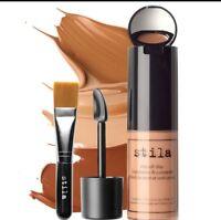 Stila Stay All Day Foundation Dark 11 Concealer & #35 Brush Kit Oil Free NIB
