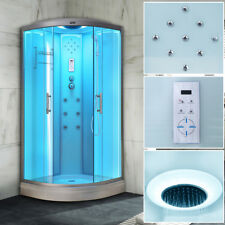 Quadrant No Steam Shower Cabin Room Enclosure Cubicle With 6 Body Jets White D09