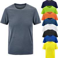 Men's Summer Casual Outdoor T-shirt Plus Size Sport Fast-Dry Breathable Tops HY