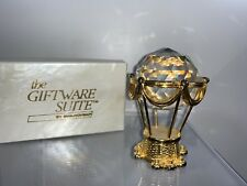 d03fa0bb93ba Swarovski Trimlite Giftware Suite Gold Hot Air Balloon Large Clear Crystal  MIB
