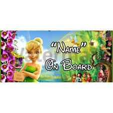 Disney Tinkerbell Personalised Baby On Board Car Sign (2)