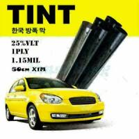 VLT 25% 50cm*1M Black Glass Window Tint Film And Shade Roll Automotive Car House