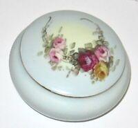 Austria Floral Porcelain Trinket Box.