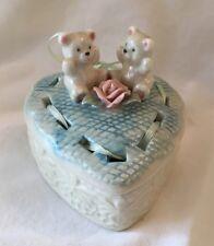 Teddy Bear Heart Trinket Box Rose Valentine Gift