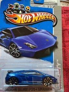 Hot Wheels Lamborghini Gallardo Lp 570-4 Superleggra Rare Blue