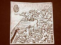 Pozzuoli Incisione all'acquaforte del 1665 Nova descrittione di Francesco Scoto