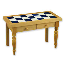 Reutter Porzellan Küchentisch mit Fliesen Holz Tisch Table Puppenstube 1:12