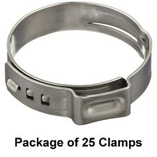 """Size 1/4"""" (7 mm) Oetiker Stepless Ear Clamps Single Ear Hose Clamps (25 Pack)"""