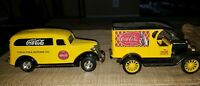 Coca Cola Delivery Truck Die Cast Metal Bank Ertl w/ Addition Coca-Cola Car