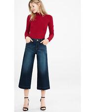 Express Jeans Wide Leg Crop High Rise Culottes  Denim Jeans Size 0