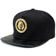 Black Pharaoh 18k Gold Luxury Metal Hip Hop Egyptian King Snapback Hat Cap