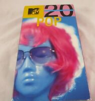 MTV 's 20th 20 Image Entertainment 2001 VHS Tape POP HiFi Stereo w/ Booklets PVB