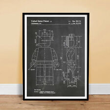 LEGO TOY MINIFIGURE MINI FIGURE PATENT PRINT 18X24 POSTER 1979 (unframed)