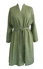Anokhi Green & Blue Dressing Gown/Robe, 100% Cotton, Knee Length, One Size