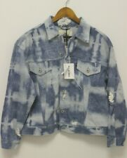 LEVIS MADE & CRAFTED SHALLOW END DISTRESSED BLEACHED TRUCKER DENIM JACKET SZ 2