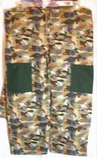Wheelchair Hospital Pants, L Camo USAF Flannel Green Brown Gold Drawstring 39x26
