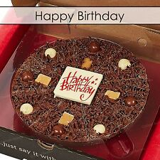 "Gourmet Chocolate Pizza Company 7"" Happy Birthday Belgian Present Gift in Box"