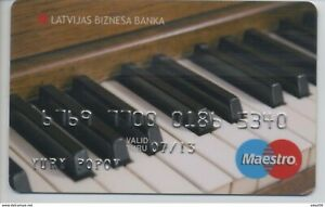 "2009 LATVIA Latvian Business bank / Maestro ""Piano"" / Rare card!"