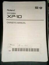 ROLAND XP 10 synth (printed copy 95 page) OWNER'S MANUAL in English only!