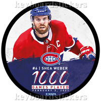 SHEA WEBER #6 1000 GAMES PLAYED FEB.2/2021 MONTREAL CANADIENS HOCKEY PUCK - NEW