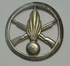 ORIGINAL FRENCH ARMY & ARTILLERY BERET BADGE Vintage