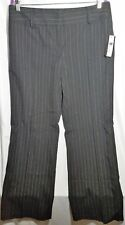 NWT AB Studio Women's Size 12 Black Pinstripe Dress Pants Polyester Blend (B8)