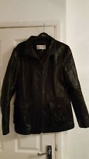 womens genuine Italian leather coat, smart trendy style..size 12 BARGAIN