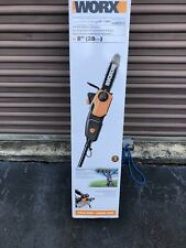WORX WG310 8 Inch 8 Amp Automatic Electric Pole Saw w/ 8 Foot Extension, Orange
