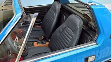FODERE SEDILI AUTO SU MISURA ASIAM FIAT X 1/9 - SIMILPELLE NERO -