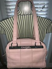 CHANEL AUTHENTIC TIMELESS CLASSIC PINK CAVIAR QUILTED LEATHER LAX BOWLER BAG